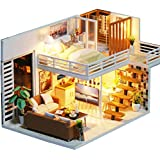 iiE Create Fashion Dollhouse Toy Loft Doll House with Furniture,Kitchen,Bedroom,Bathroom, Living Room and Dust Cover