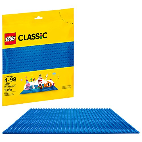 LEGO Classic Blue Baseplate 10714 Building Kit (1 Piece) (Blue Sea Studs)