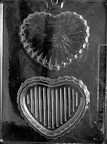 Medium Heart Pour Box Mold Chocolate V66 Candy soap Making Boxes Valentines