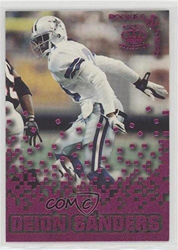 (Deion Sanders (Football Card) 1995 Pacific Triple Folders - Rookies & Stars - Raspberry #RS-9)
