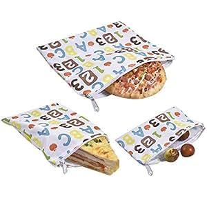 Mona43Henry Bolsas de bocadillos reutilizables Pan de ...