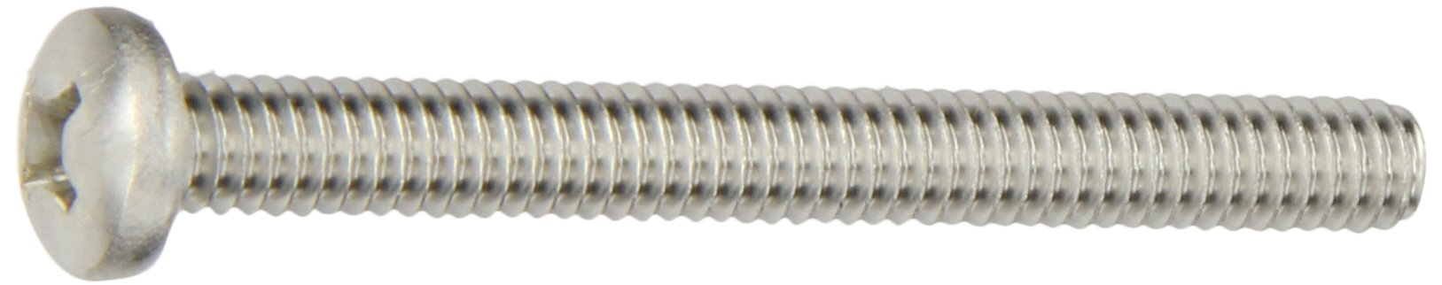 300 Series Stainless Steel Pan Head Machine Screw, Passivated, Meets MS-51957, 3 Phillips Drive, 1/4''-20 Thread Size, 2-1/2'' Length, Fully Threaded, USA Made (Pack of 10) by Small Parts