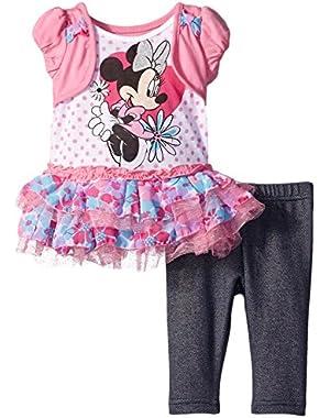 Girls' Minnie Mouse 2-Piece Legging Set