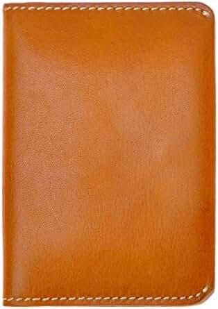 ZLYC Unisex Handmade Vegetable Tanned Leather Slim Wallet Credit Card Holder