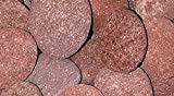 RED LAVA MEXICAN BEACH PEBBLES - 2 to 4 Inch Stones - 35 Pounds - Natural Rocks for Fire Pits and to Accent Indoor and Outdoor Gardens, Ponds, Fountains, Arts and Crafts, Protect Plants, Block Weeds