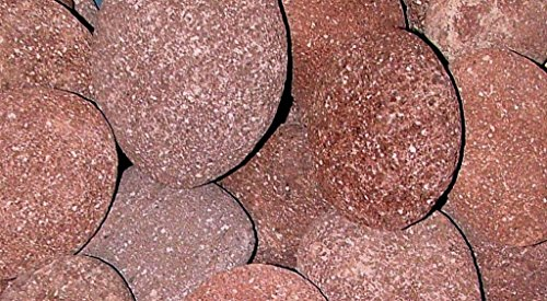 RED LAVA MEXICAN BEACH PEBBLES - 2 to 4 Inch Stones - 35 Pounds - Natural Rocks for Fire Pits and to Accent Indoor and Outdoor Gardens, Ponds, Fountains, Arts and Crafts, Protect Plants, Block Weeds by Custom Pro