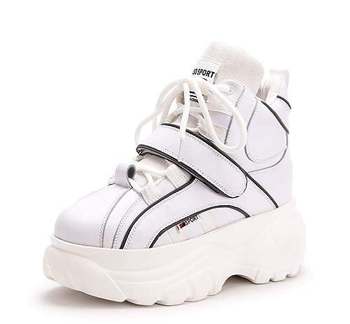 Mujer Plataforma Zapatillas 2018 Otoño Invierno Casual Entrenadores Moda Velcro Aptitud Zapatos: Amazon.es: Zapatos y complementos