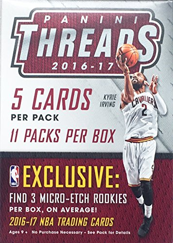 2016 - 2017 NBA Panini Threads Basketball Cards Blaster Pack (Nba Trading Cards Box)