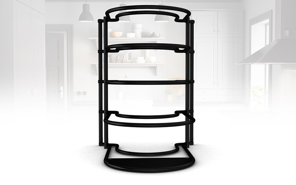 Extreme Matters Heavy Duty Pan Organizer - Bottom Tier 1 Inch Taller for Larger Pans - No Assembly Required - Black by Extreme Matters (Image #9)