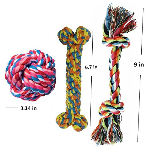 HTKJ-Dog-Toys-Set-of-5-Cotton-Rope-Dog-Toys-for-Small-to-Medium-Doggie-Tough-Teething-Pet-Dog-Chew-Toys