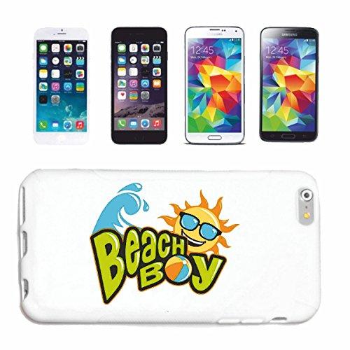 """cas de téléphone iPhone 6+ Plus """"BEACH BOY SURFING BEACH SURFBOARDS WAVES LONGBOARD DE SURF Beginner Shop"""" Hard Case Cover Téléphone Covers Smart Cover pour Apple iPhone en blanc"""