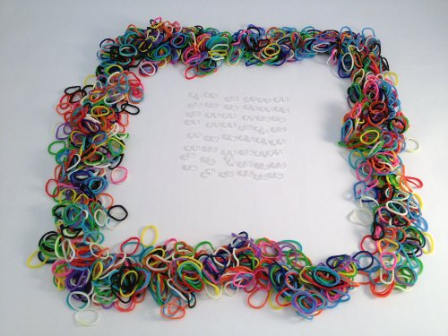 Loom Bands Refill 6 Pack Two Tone Rainbow Colors Rubber 1800 Pieces 72 S Clips
