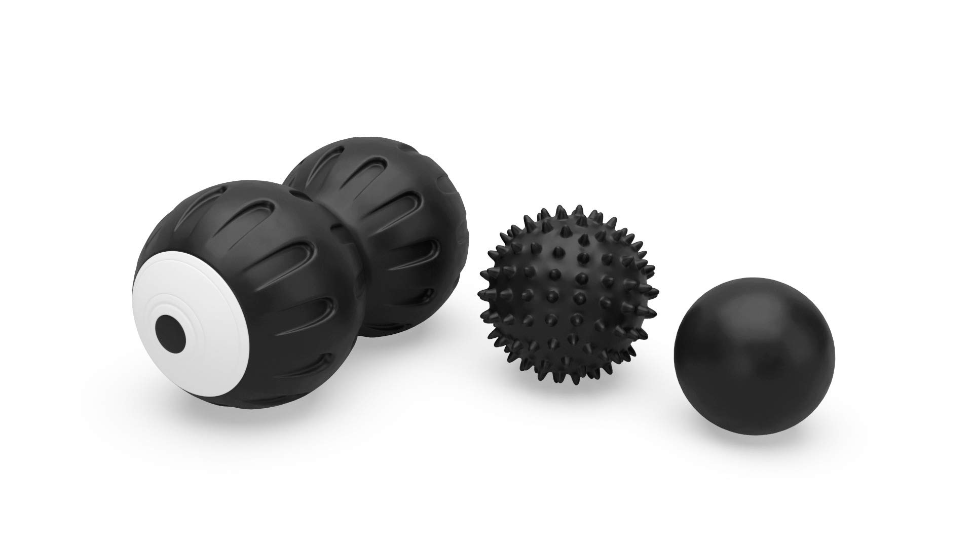 GGAI Vibrating Peanut Massage Ball,Lacrosse - Spiky Ball Set for Myofascial Release. Features A Deep Tissue Double Massage Ball Roller for Back Relief,Neck Relief,Tension Release - Muscle Release