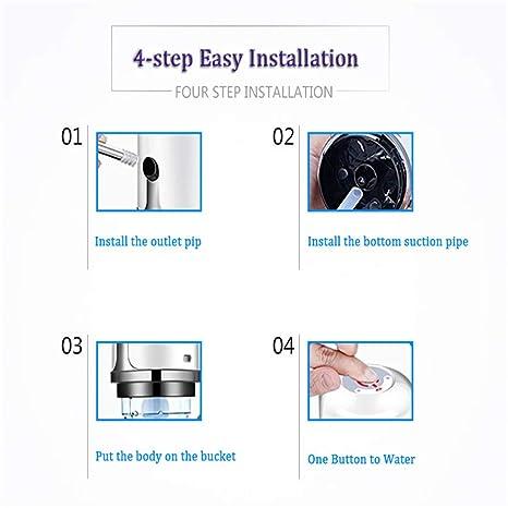 Dispensador De Agua Embotellada 5L 7.5L 4.5L Cold Bottle Faucet Automatic Eelectric Portable Drinking Water Pump Dispenser 003 (Black) - - Amazon.com
