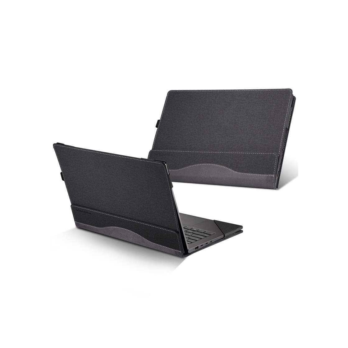 Honeycase HpSpectreX36015.6inchCase,PULeatherFolioStandHardCoverCompatible forHpSpectrex36015ttouch/15-CH011/15-BL000 Series 15.6''2in1LaptopSleeve(NOTFIT15-AP000Series),Grey by Honeycase (Image #3)