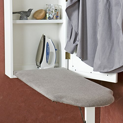 Harper Blvd White Wall-mounted Ironing Board and Storage Center by Harper Blvd