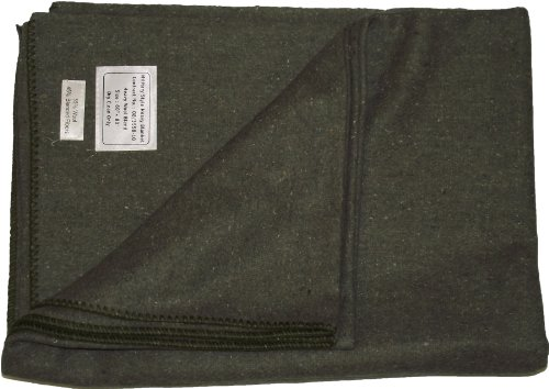 New Military Style Heavy Wool Camping Blanket