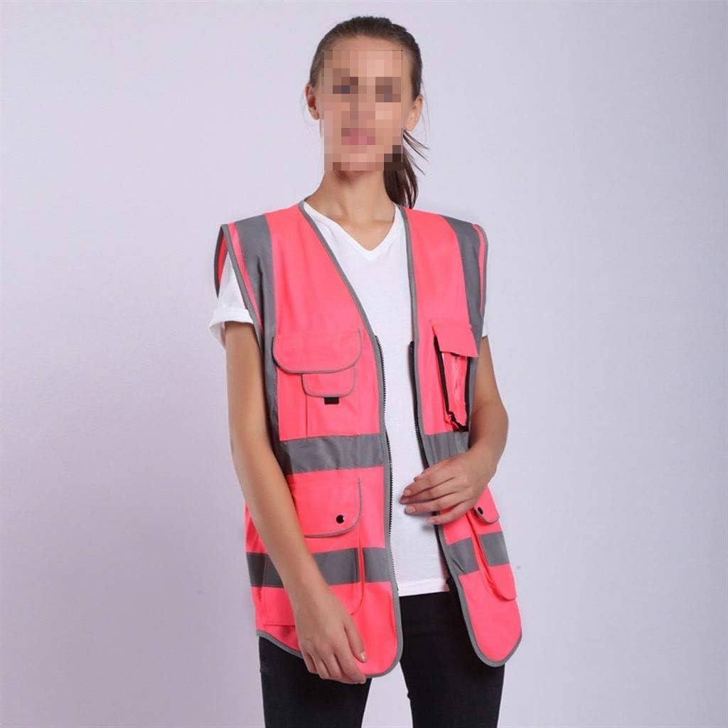 Rose fluorescent HI VIS Gilet femme-Haute Visibilité Gilet