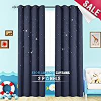 Nursery Blackout Curtains Kids Room Darkening Window...