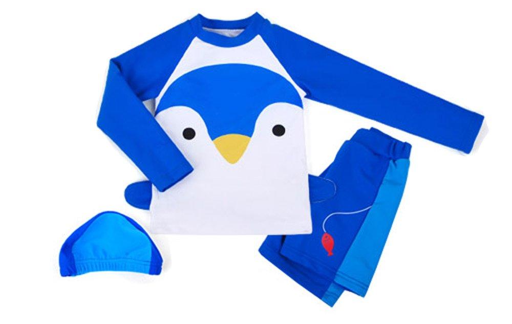 Ozkiz Boys Penguin Rash Guard Shirts Pants Size 5
