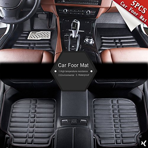 Sedeta 5pcs Universal Car Auto Floor Mats FloorLiner Front Rear Carpet cleaner All Weather Mat by Sedeta (Image #8)