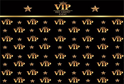 AOFOTO 7x5ft VIP Red Carpet Event Backdrop Star Catwalks Stage Photography Background Cine Film Show Booth Celebrity Activity Premiere Award Movie Ceremony Photo Studio Props Party Banner Wallpaper]()