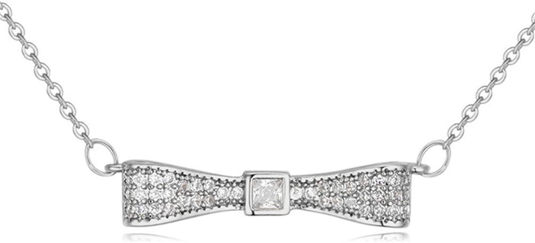 FIONAT Collar Accesorios para Mujer Chapado En Oro Diamante Circón ...