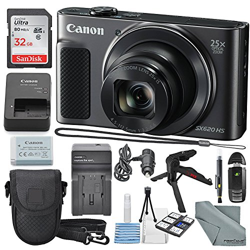 Canon PowerShot SX620 HS Digital Camera along with 32GB, Del