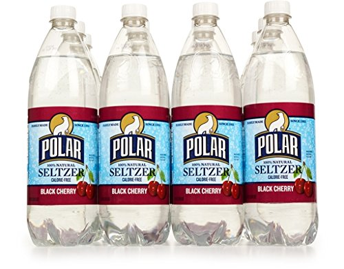 Polar Seltzer 33.8 Fl. Oz, (Pack of 12) (Black Cherry) made in Massachusetts