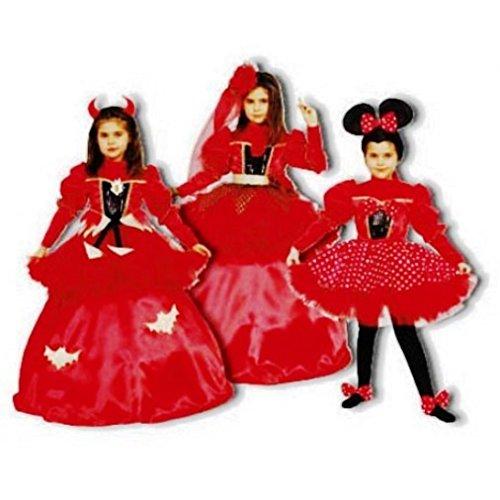 3-in-1 Devil, Spanish Dancer, Mouse Children's Costume Set Size: Medium (Spanish Dancer Kids Costume)