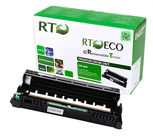 RT DR660-BK DR-630 DR-660 Black Drum Unit (Toner Sold Separately) for Brother HL-L2300 HL-L2320 HL-L2340 HL-L2360 HL-L2380