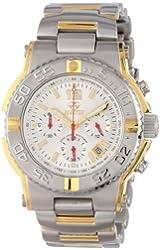 REACTOR Men's 75102 Critical Mass Chronograph White Dial Two-Tone Watch
