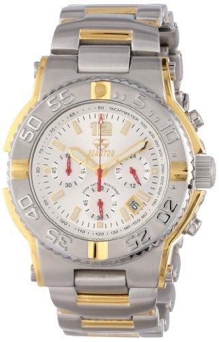 (REACTOR Men's 75102 Critical Mass Chronograph White Dial Two-Tone Watch)