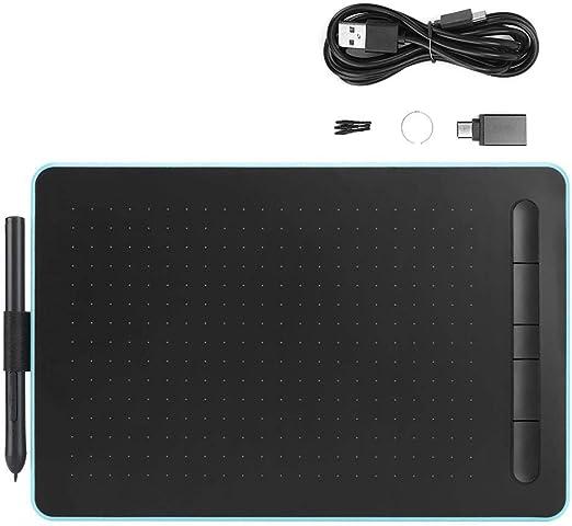 ライティングボード電子デジタルグラフィック手書きタブレット描画黒板落書きボードパッドキッドオフィス用(青い)