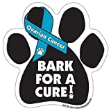 Bark For A Cure Ovarian Cancer Paw Support Ribbon