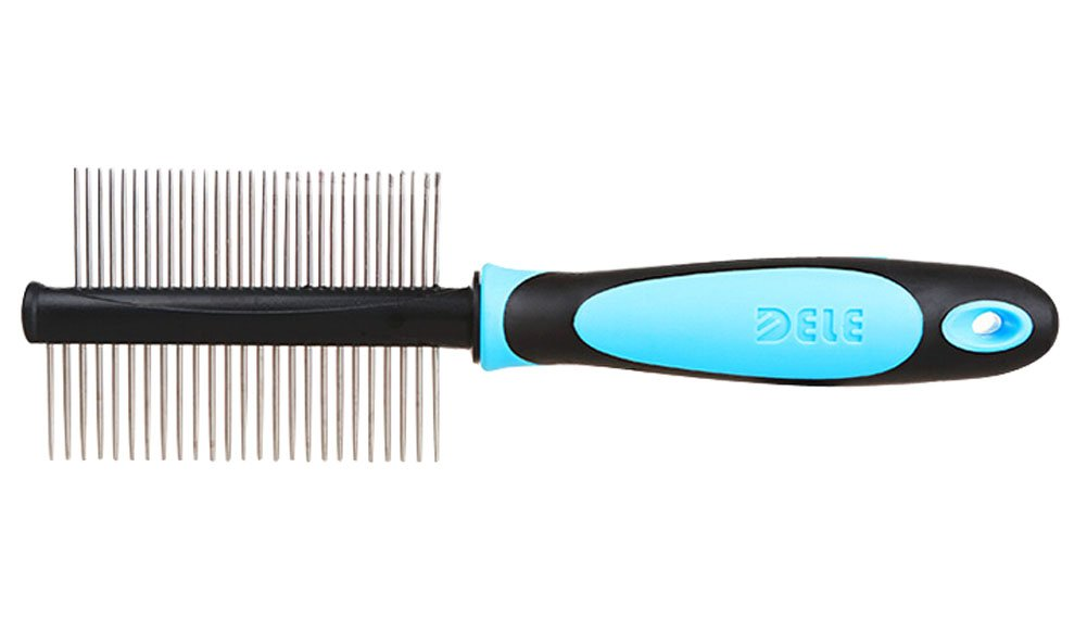 Double-side Grooming Comb for Dogs Cats Pet Flea Combs BLUE