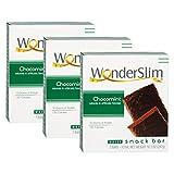 WonderSlim High Protein Snack Bar/Diet Bars - ChocoMint (7ct) 3 Box Value-Pack (Save 5%) - Trans Fat Free, Aspartame Free, Kosher, Cholesterol Free