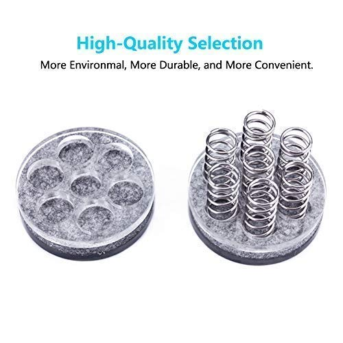 Spring Speaker Spike 1.7Inch Large Speakers Spikes Isolation Stand Feet for HiFi Amplifiers Subwoofer CD Player Studio Monitor Turnables via Gisveate (4 Packs) by Gisveate (Image #3)