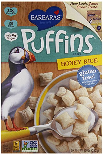 Barbara's Bakery Puffins Cereal, Honey Rice, 10 Ounce (Pack of (Barbaras Bakery Puffins Cereal)