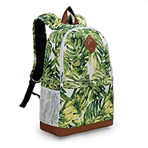 Koolertron Professional Women Canvas Camera Case / Backpack For SLR DSLR Canon Nikon Camera Shoulder Bag Canon (Green)