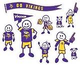 NFL Minnesota Vikings Large Family Decal Set