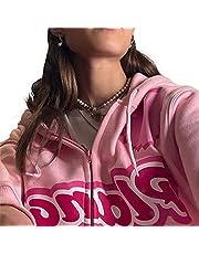 Dames Y2k Zip Up Hoodies Lange Mouw Oversized Jas E-Girls 90S Print Streetwear Herfst