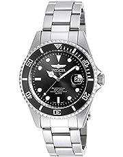Invicta Men's PRO DIVER Steel Bracelet & Case Quartz Black Dial Watch 8932OB