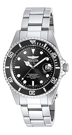 Invicta Men s 8932OB Pro Diver Analog Quartz Silver  Dial color - Black  Stainless Steel Watch 902bb3842