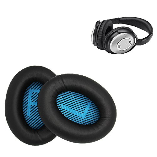 Bose Replacement Ear Pads Kit - Compatible with Quietcomfort 2/Quiet Comfort 15/QC 25/Ae2/Ae2i/Ae2w/Sound True/Sound Link (BLACK) by MAXSHUANG