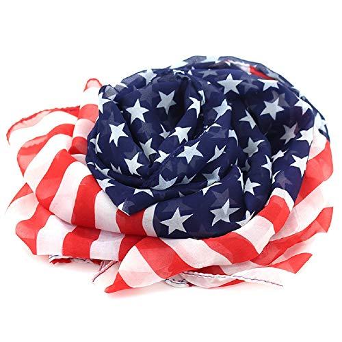 Vintage American Flag Scarf,Unisex Fashion Infinity Shawl,Fashion Soft Silk Chiffon Scarf (American Flag 01, ()