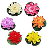 BLagenertJ-Artificial-Lotus-Flower-Vivid-Floating-Water-Lily-Decoration-Garden-Pond-Fish-Tank-Performance-Props-Yellow
