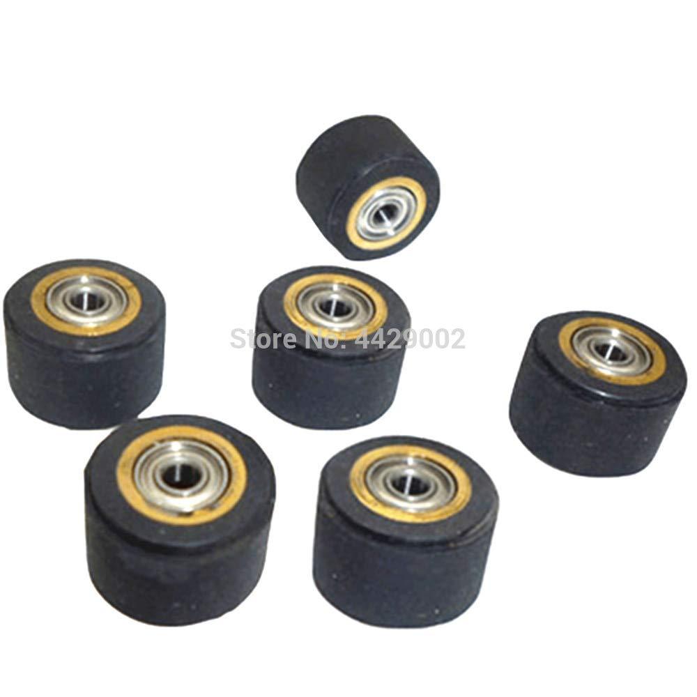 Fevas 1/2/3/4/5/6pcs 5mmx11mmx16mm Copper Core Pinch Roller Vinyl Plotter Cutter Cutting Engraving Machine Printer Parts - (Color: 6pcs)