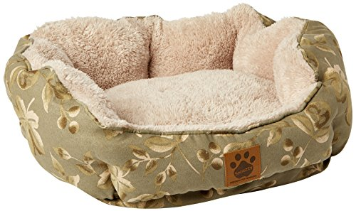 (Precision Pet Clamshell Bed, Green Print)