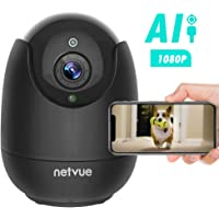 Dog Camera - 1080P FHD Pet Camera with Phone App, Pan/Tilt/Zoom Dog Monitor Cat Camera with 2-Way Audio, AI Human Detection, Night Vision, Cloud Storage/TF Card, Work with Alexa Indoor Camera for Pets